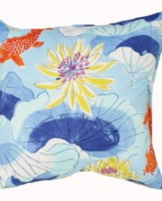Blue Koy Fish Indoor Outdoor Cushion Bungalow Living