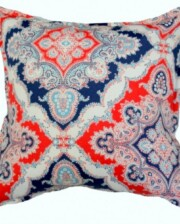 Red and Blue Paisley Indoor Outdoor Cushion Bungalow Living