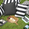 Bungalow Living Black & White Outdoor Cushions Styling Pic 1