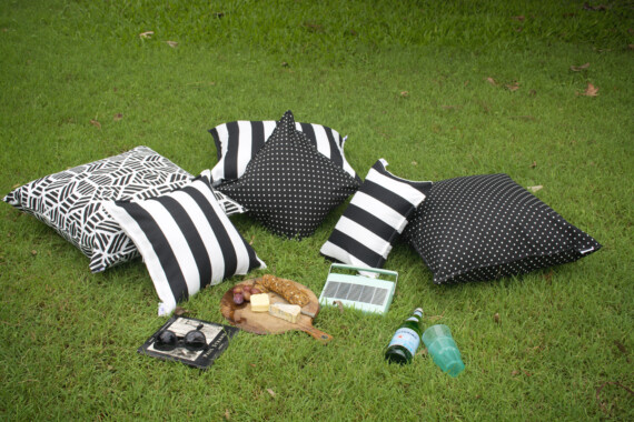 Bungalow Living Black & White Outdoor Cushions Styling Pic 4