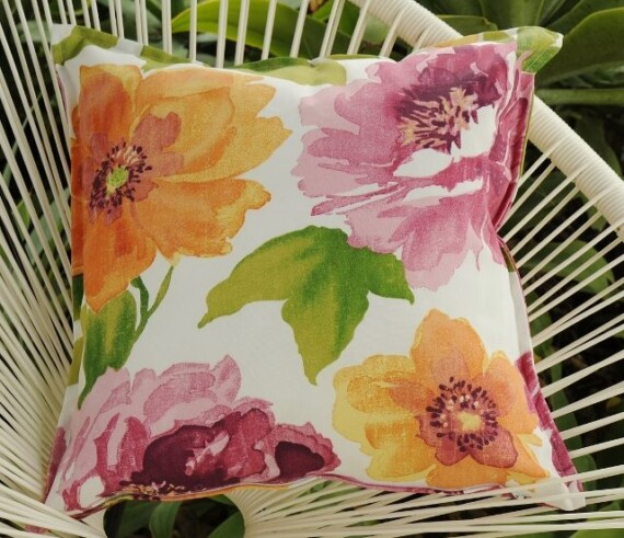 Large Blooms Indoor Outdoor Cushion Bungalow Living