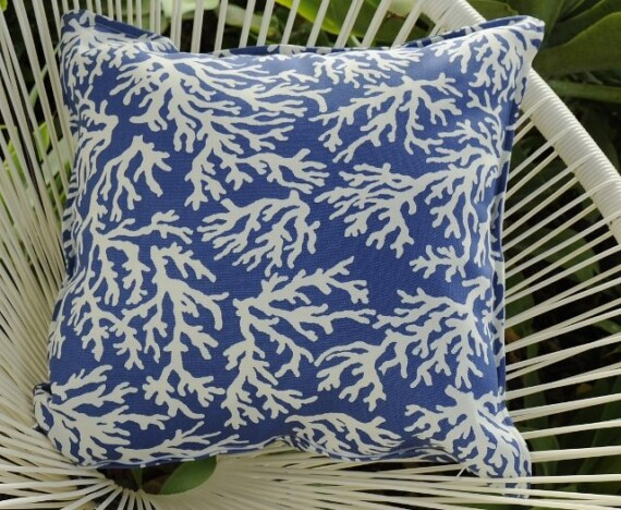 Blue Coral Indoor Outdoor Cushion Bungalow Living
