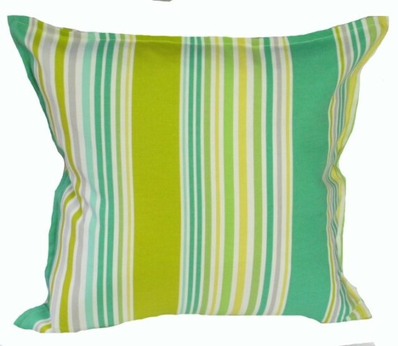 Lawn Stripe Indoor Outdoor Cushion Bungalow Living