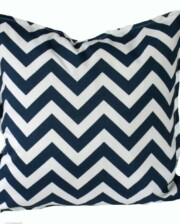 Navy and White Chevron Indoor Outdoor Cushion Bungalow Living