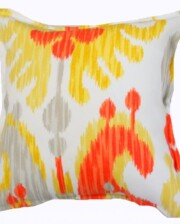 Silver Citrus Ikat Indoor Outdoor Cushion Bungalow Living