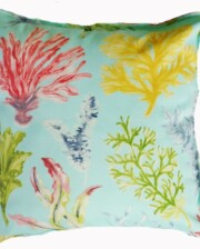 Aqua Coral Garden Indoor Outdoor Cushion Bungalow Living