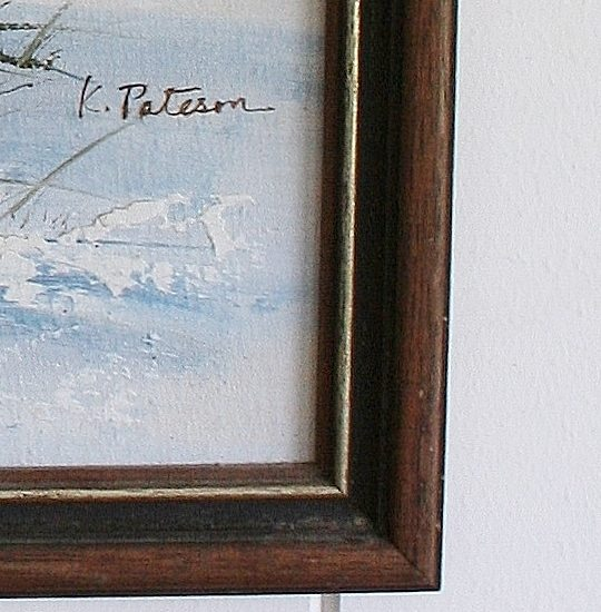 The Lighthouse, Vintage Oil Painting Bungalow Living