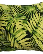 Black Tropical Indoor Outdoor Cushion Cover Bungalow Living