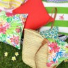 Bungalow Living Outdoor Cushions and Hand Made Baskets