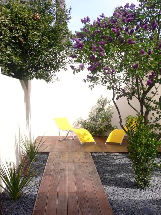 Yellow should not only be restricted to indoors but used outdoors as well to add sense of depth.