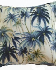 Palm Trees Blue Indoor Outdoor Cushion