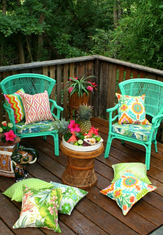 Tropical Orchid Outdoor Indoor Cushion