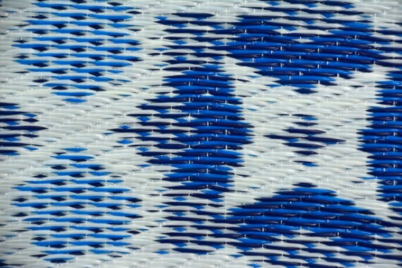 Blue Mosaic Outdoor Rug
