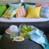 Bungalow Living Pineapple Spike Outdoor Indoor Cushion Made In Australia