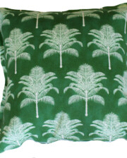 Green Date Palm Tree Outdoor Cushion Cover Bungalow Living