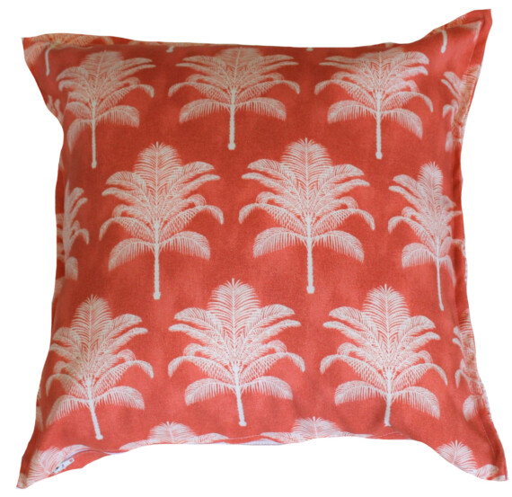 Pink Date Palm Trees Bungalow Living Outdoor Cushion Cover