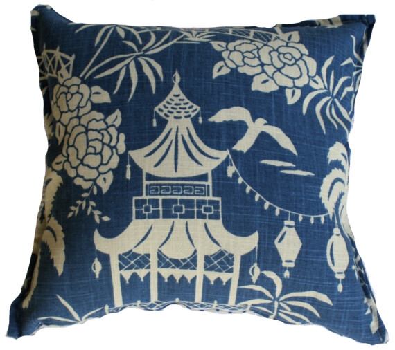 Pagodas and Palms Bungalow Living Indoor Cushion Cover
