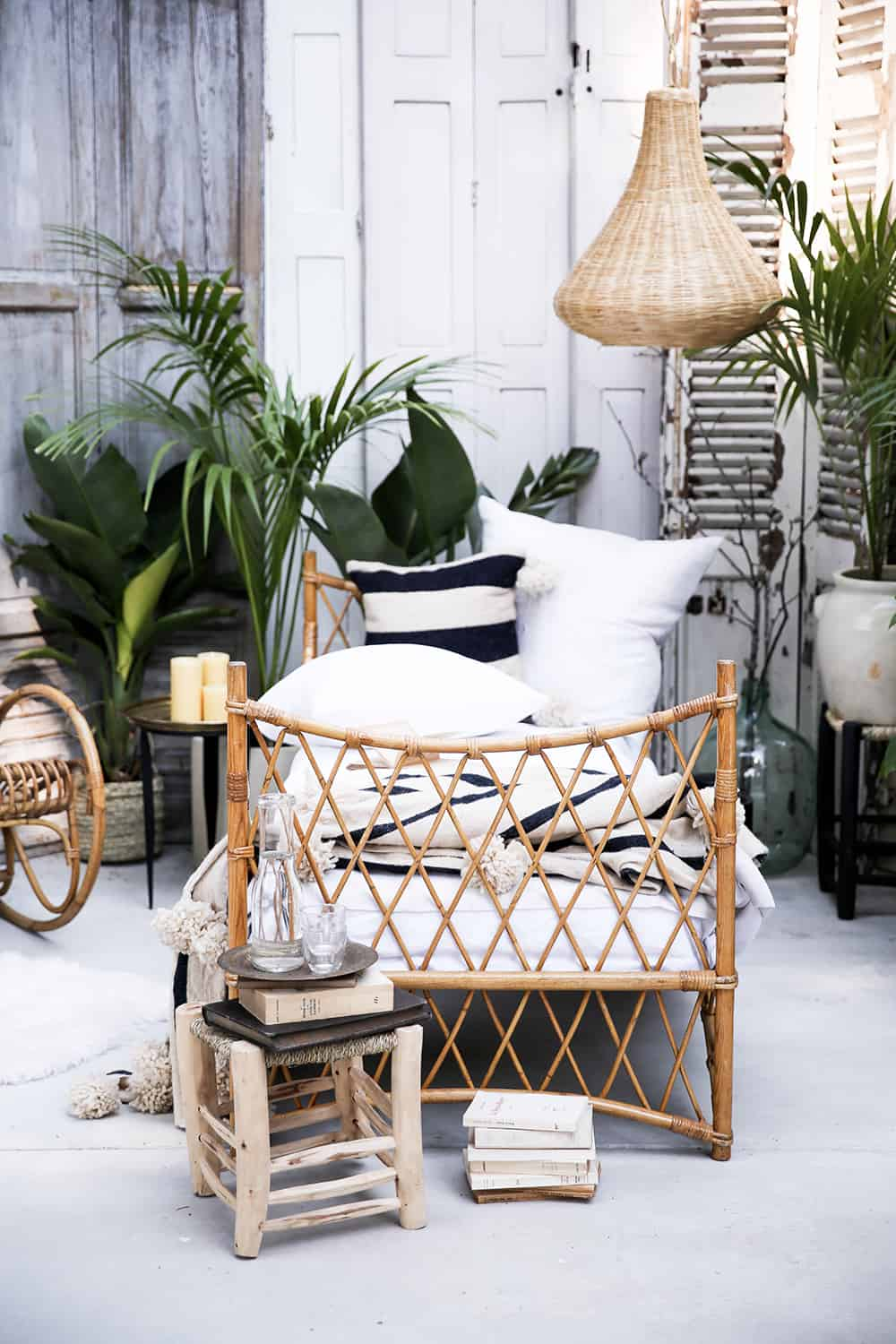 Daybed Rattan Cane Outdoor