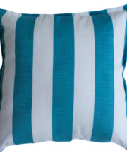 Aqua & White Stripe Outdoor Cushion