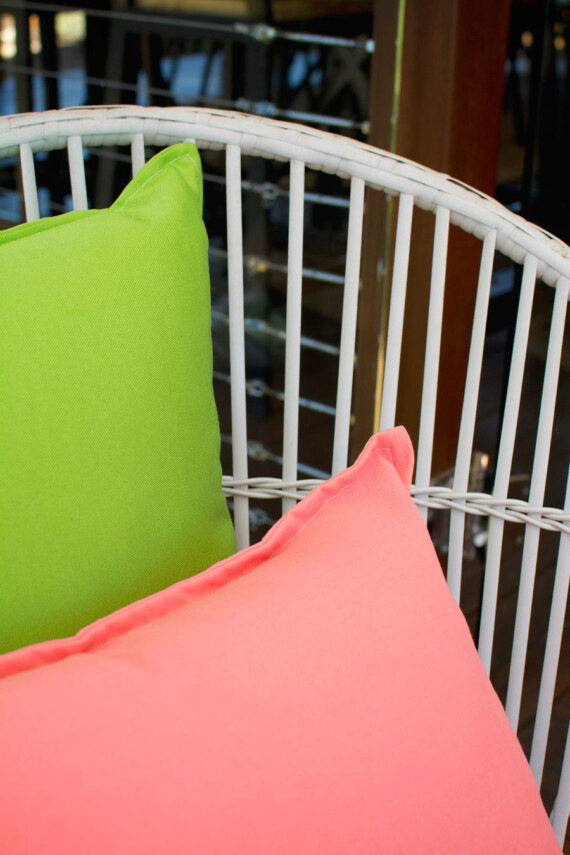 Bungalow Living Green Pea Outdoor Cushion Made IN Australia