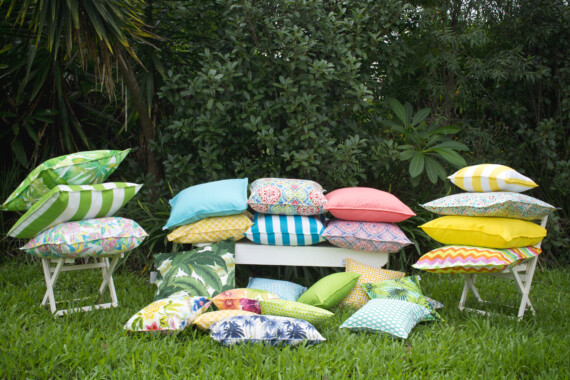 Bungalow Living Outdoor Striped Cushions