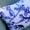 Chinoiserie Blue and White Indoor Outdoor Cushion Cover
