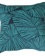 Blue & Aqua Leaves Bungalow Living Outdoor Cushion Australia 1