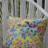 Yellow Chinoiserie 42 CM Square Outdoor Cushion Bungalow Living Australia 4