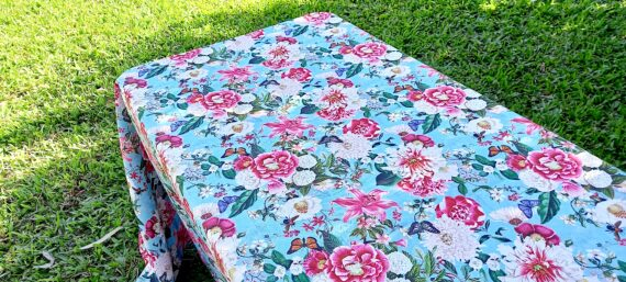 Butterfly Garden Outdoor Tablecloth Bungalow Living 2