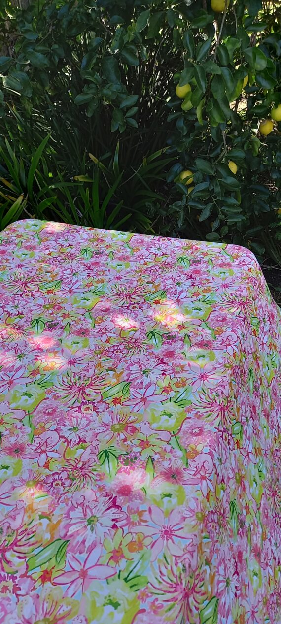 Summer Floral Outdoor Tablecloth Bungalow Living