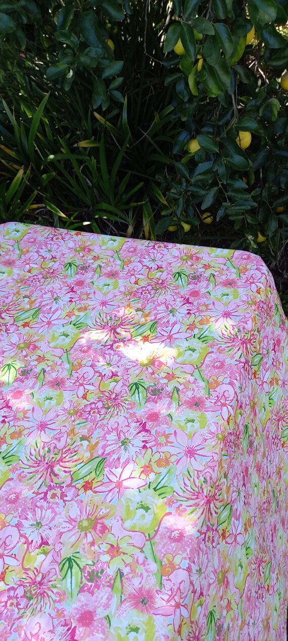 Summer Floral Outdoor Tablecloth Bungalow Living 4